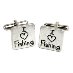 A great gift for the dad who loves fishing on Father's Day. A fun cufflinks set that says it all. On sale for $35 on our website. #FathersDay #jewelry #shopping #gifts #ideas #dad #fishing #MensFashion