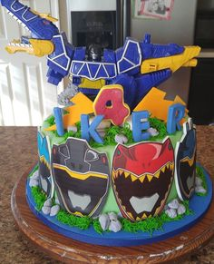 Power ranger super chargers cake