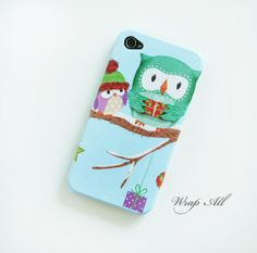 Owls+in+snow+iPhone+4+case+/+Owls+iPhone+4s+case/+Owls+by+WrapAll,+$15.90