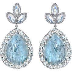 Irene Neuwirth Fine Aquamarine & Diamond Earrings These stunners! The teardrop shape- UGH LOVEEEE. the aquamarine and diamond complement each other so well! Gems Jewelry, I Love Jewelry, Jewelry Accessories, Fine Jewelry, Jewlery, Jewellery Box, Pandora Jewelry, Aquamarine Jewelry, Diamond Jewelry