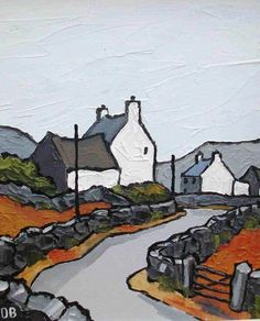 David Barnes (British artist) – overcast skies near Prion. Landscape Art, Landscape Paintings, Modern Art, Contemporary Art, Naive Art, Oeuvre D'art, Art Techniques, Amazing Art, Art Drawings