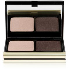 Kevyn Aucoin The Eyeshadow Duo - Soft Gold Lamé/ Smoky Brown No. 207 (5670 RSD) ❤ liked on Polyvore featuring beauty products, makeup, eye makeup, eyeshadow, beauty, brown, palette eyeshadow and kevyn aucoin