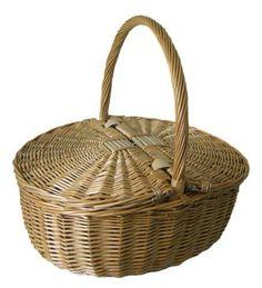 Antique Grey Oval Picnic Basket Brown 19 X 42 X 35 Cm for sale online Vintage Picnic Basket, Hamper, Housekeeping, Basket Weaving, Antiques, Grey, Baskets, Brown, Backpacks