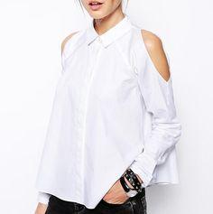 4e6e7f83e1855c Plain white off the shoulder tops for women long sleeve shirt White Off  Shoulder