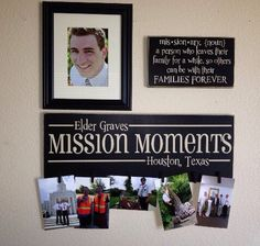 Mission Moments Picture plaque & Missionary definition plaque by VinylizedCrafts on Etsy https://www.etsy.com/listing/288542553/mission-moments-picture-plaque