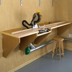 Buy Woodworking Project Paper Plan to Build On-the-Mark Mitersaw Station at Woodcraft.com