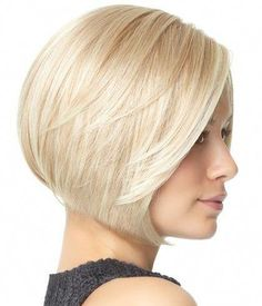 Women Blonde Highlight Side Part Short Bob Straight Synthetic Wig - One Size Bob Haircuts For Women, Short Bob Haircuts, Long Bob Hairstyles, Trending Hairstyles, Short Hairstyles For Women, Blonde Hairstyles, Prom Hairstyles, Hairstyle Short, Hairstyle Ideas