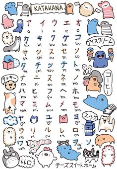 "Read Kanji, hiragana i katakana - z czym się to je? from the story Hiragana dla opornych by Salem-s (Salem-""sensei"") with reads. Study Japanese, Japanese Culture, Japanese Shop, Japanese Fashion, Otaku, Learn Japan, Cat Doodle, Japanese Phrases, Japanese Things"