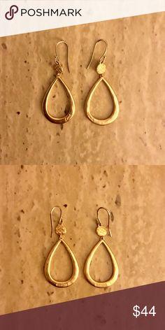 NWOT Coach Gold Drop Dangle Teardrop Pear Earrings NWOT Coach Gold Drop Dangle Teardrop Pear Earrings 55 mm drop, 23 mm width. SOLD OUT ONLINE!  Reasonable offers welcome! 20% off bundles! Smoke- & pet-free home Coach Jewelry Earrings