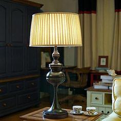 American Country Style asztali lámpa, egy könnyű, acél és Fabric (BULISIBEN123) – EUR € 171.91