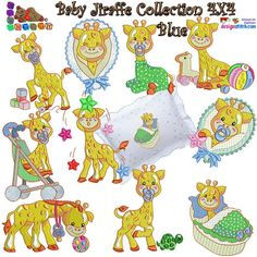 Singles are available. Between and Stitches Custom Embroidery, Embroidery Thread, Machine Embroidery Designs, Free Design, Giraffe, Applique, Birthday, Handmade Gifts, Pink