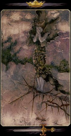 Queen of Swords - Tarot of the Secret Forest by Lucia Mattioli