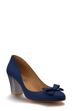 reputable site e4704 70486 Shoes of Prey Block Heel Bow Pump (Women) available at  Nordstrom Stiletto  Pumps