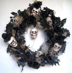 skull christmas wreath