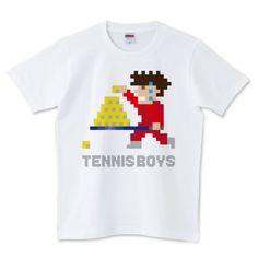 テニスボーイズ 玉拾いver 5.0オンスTシャツ (United Athle)