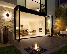 Doors and fire pit