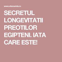 SECRETUL LONGEVITATII PREOTILOR EGIPTENI. IATA CARE ESTE! Calm