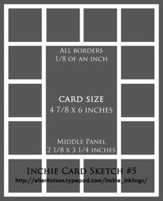 INCHIE SKETCH - Sketch 5 - Ellen Hutson Inchie Card Sketch & Tutorial - Ellen Hutson, LLC