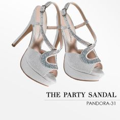 Camille La Vie Peep Toe Sandals with Stones - the perfect shoe for weddings and bridal parties