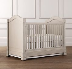 Distressed Dove Grey Cot