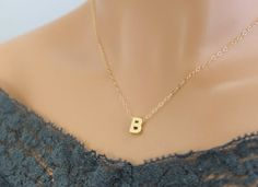 Our petite gold letter necklace is tiny in size, this makes it perfect to wear alone or layer it with another simple necklace. Personalized your