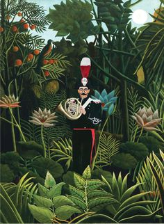 Silvia di Paolo   - Maggio con Henri Rousseau. Calendario Carabinieri 2016 Magritte, Charles Angrand, Illustrations, Illustration Art, Georges Seurat, Group Art Projects, Maurice Denis, Francis Picabia, Jungle Art