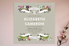 Banner and Branches Wedding Invitations by Alethea... at Minted.com