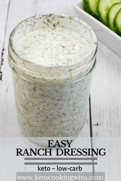 Best Ranch Dressing, Keto Ranch Dressing Recipe, Low Carb Ranch Dressing, Keto Salad Dressing, Easy Ranch Recipe, Homemade Ranch Dressing, Keto Sauces, Low Carb Sauces, Healthy Sauces