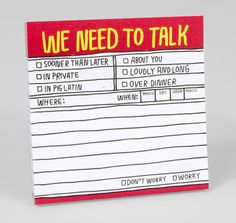 Knock Knock - Hand-Lettered We Need To Talk