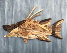 Driftwood Hogfish Snapper Coastal Wall Decorr