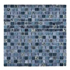 blue grey mosaic tile - Google Search