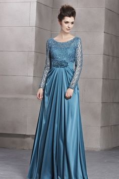 Beading Bateau Neck Column Silk-like Satin Floor-length Evening Dresses Islamic Fashion, Muslim Fashion, Hijab Fashion, Lovely Dresses, Simple Dresses, Abaya Mode, Kebaya Dress, Hijab Stile, Muslim Dress