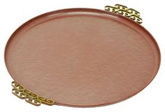 Round Kyes of Pasadena Tray, Red