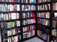 This is my library at home. I never thought I'd have a whole room just for books. But I do.