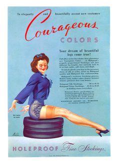 Vintage Stuff and Antique Designs Vintage Stockings, Stockings Lingerie, Nylon Stockings, Lingerie Vintage, Vintage Underwear, Luxury Lingerie, Vintage Advertisements, Vintage Ads, Vintage Glamour