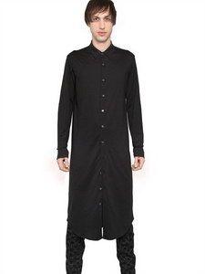 Ann Demeulemeester - Cotton Jersey Extra Long Shirt | FashionJug.com