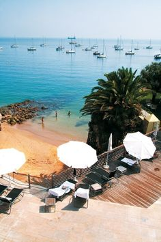 30km west of Lisbon you can find the charming village of Cascais, including several cosy beaches.
