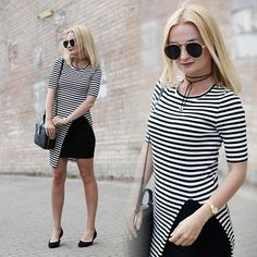 Get this look: http://lb.nu/look/8338237 More looks by Daria Darenia: http://lb.nu/user/35675-Daria-D Items in this look: Sammydress Striped Top, Zaxy Black Flats #casual #classic #street #stripes #classy #allblack #sunglasses #summer #black