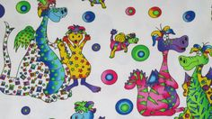 Lightweight Summer Blanket, Stroller Blanket, Large baby or toddler blanket, 100 percent premium cotton,approx 36X 43 inches. Dragons!!