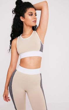 Pink Contrast Binding Sport Crop Top Pretty Little Thing Top Quality For Sale Perfect ZGbT99ki