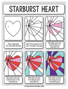 Make this Op Art Heart with step-by-step instructions. Finish with marker or your choice of media. Send some Heart Art for Valentines.::
