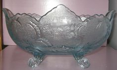 Jeannette Glass Co. Banana Boat Bowl Louis XV