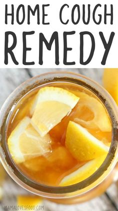 Home Remedy for Cough - Lemon Honey Ginger Syrup - worked SO WELL! – Home Remedy for Cough – Lemon Honey Ginger Syrup – Mama Loves Food - Cough Remedies For Adults, Home Remedy For Cough, Natural Cough Remedies, Cold Home Remedies, Flu Remedies, Natural Health Remedies, Natural Cures, Herbal Remedies, Natural Healing