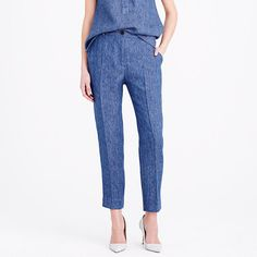 Pre-order Collection women's Ludlow pant in Italian linen chambray