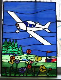 Warner Stained Glass - Online Gallery airplane