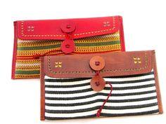 pretty leather & woven #fairtrade clutches!