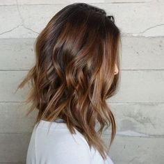 Brown Balayage Mid-Length Hairstyle