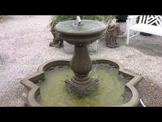 Wide nozzle fountain + dripping on water. Garden Fountains For Sale, Garden Statues, Pottery, Outdoor Decor, Free Shipping, Water, Ceramica, Gripe Water, Pots