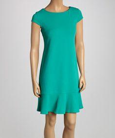 Green Cutout Dress by Jemma Apparel #zulily #zulilyfinds