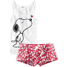 HM Pyjamas in soft jersey with a Snoopy motif. Cute Pjs, Cute Pajamas, Adult Pajamas, Cotton Pjs, Cotton Sleepwear, Pajama Outfits, Lazy Outfits, Peanuts Gang, Charlie Brown